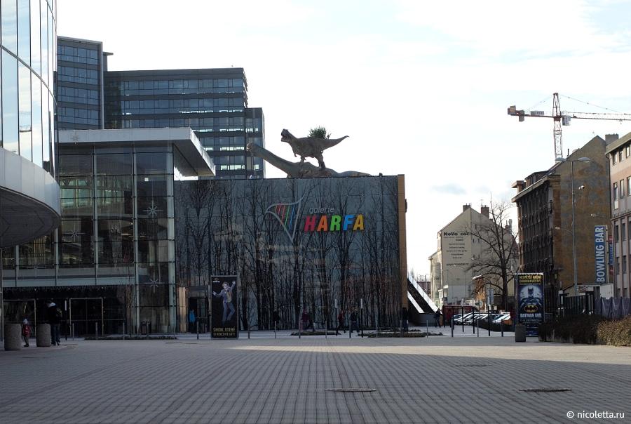 На крыше торгового центра Harfa