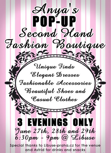 Pop Up Second Hand Fashion Boutique