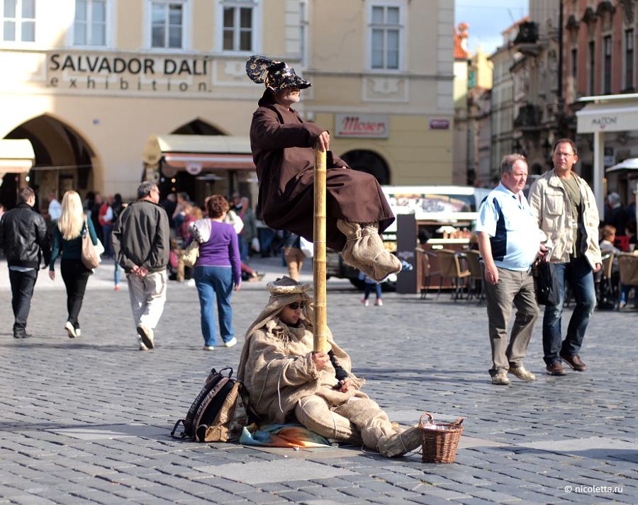 Пражские уличные актеры